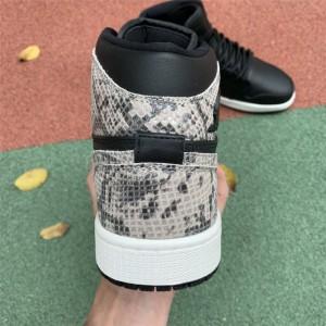 Men's Air Jordan 1 Retro High Premium Snakeskin Black White