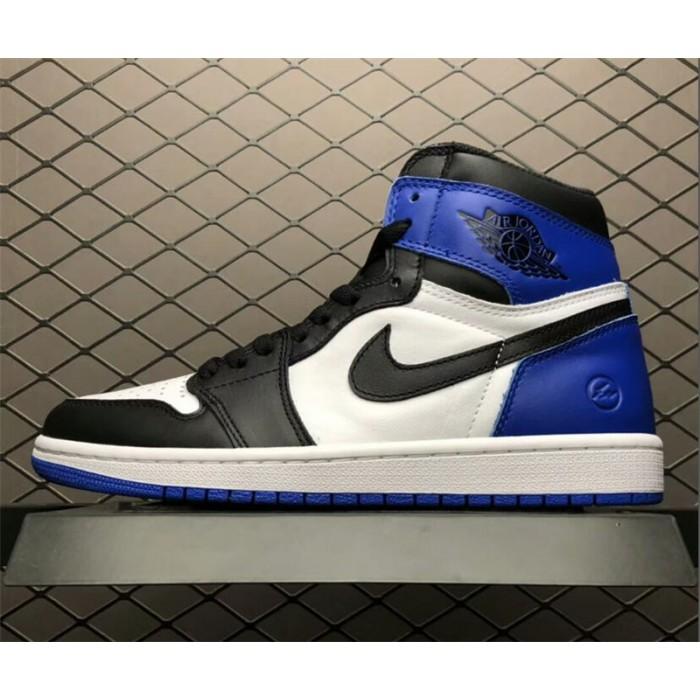 Men's Air Jordan 1 x Fragment Design White/Sport Royal-Black