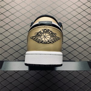 Men's/Women's Buy Air Jordan 1 Low Gold Toe