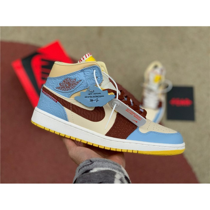 Men's/Women's Buy Air Jordan 1 Mid SE Maison Chateau Rogue Fearless