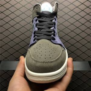 Men's Buy Air Jordan 1 Mid Suede Grey/Purple/White