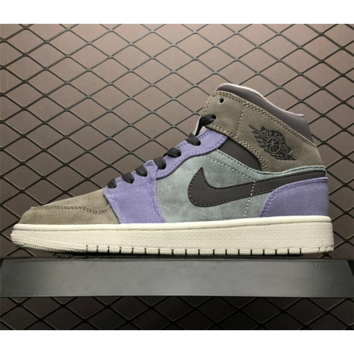 Men's Buy Air Jordan 1 Mid Suede Grey/Purple/White