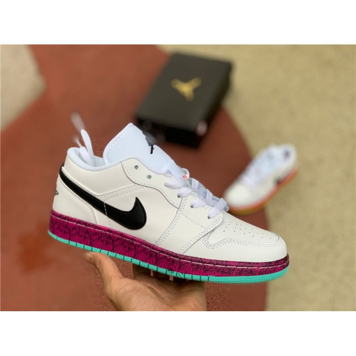 Women's Buy Cheap Air Jordan 1 Low GS Multi-Color