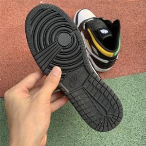 Men's/Women's Cheap Air Jordan 1 Mid Quai 54 Black-White-Multi-Color