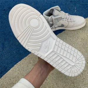 Men's/Women's Cheap Air Jordan 1 Mid SE Bone Grey
