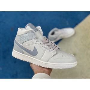 Men's/Women's Cheap Air Jordan 1 Mid SE Bone Grey
