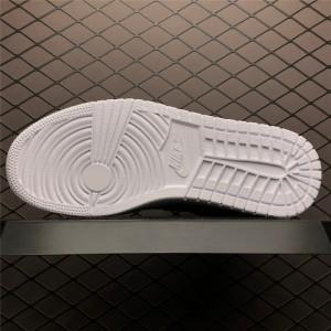 Men's Cheap Air Jordan 1 Mid White/Pure Platinum