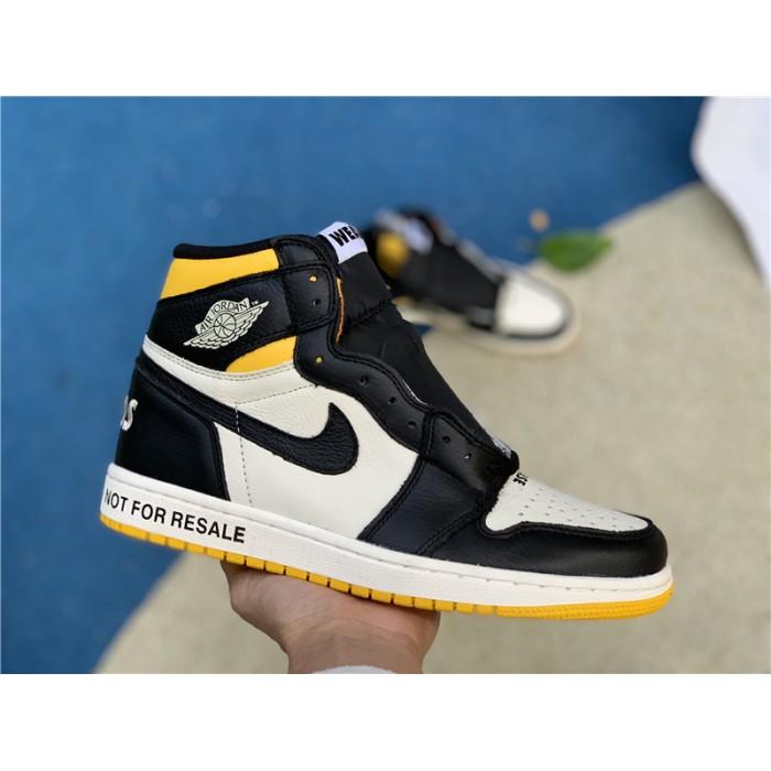Men's/Women's Cheap Air Jordan 1 Retro High OG NRG No Ls Varsity Maize