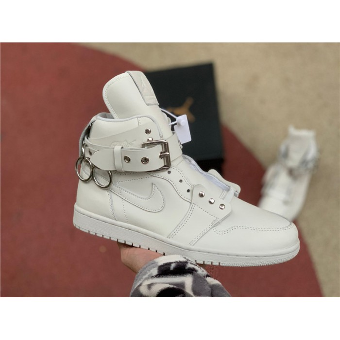 Men's/Women's Cheap Comme des Garçons x CDG Air Jordan 1 White