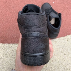 Men's/Women's Edison Chen x Air Jordan 1 Black Silk To Buy