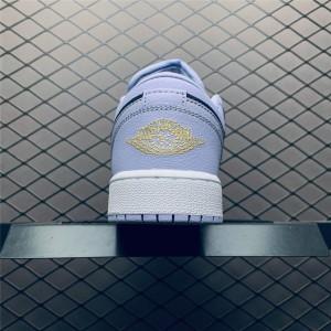 Women's Air Jordan 1 Low Oxygen Purple White Shoes