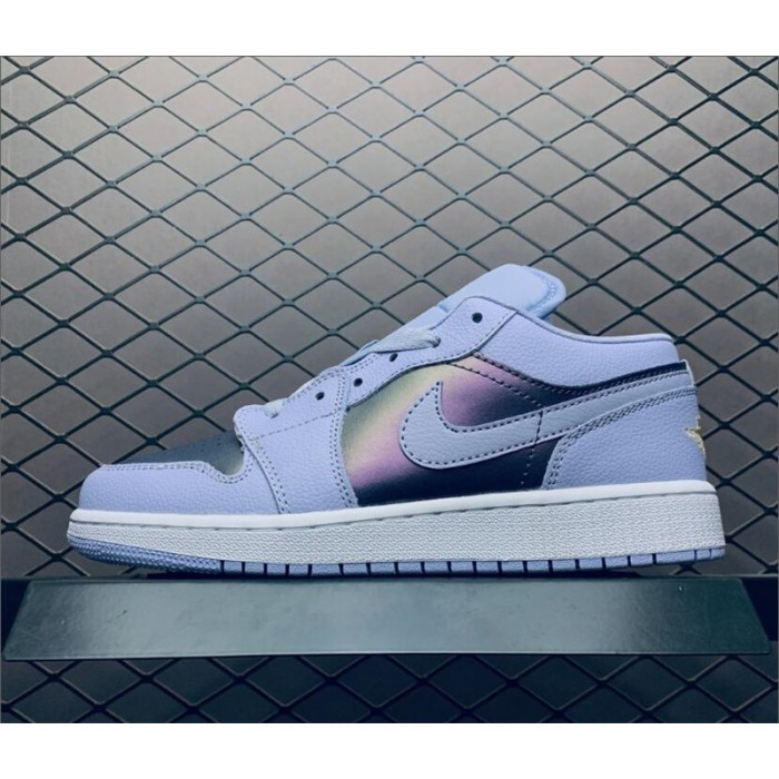 Women's Air Jordan 1 Low Oxygen Purple White Shoes