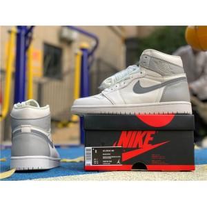 Men's/Women's Air Jordan 1 Mid Light Bone Wolf Grey