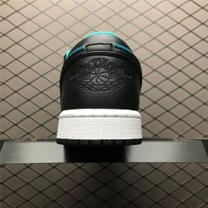 Men's Latest Air Jordan 1 Low Black Green 2019