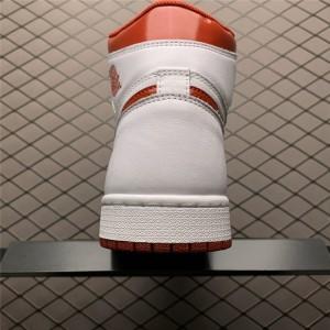 Men's Latest Air Jordan 1 Retro High OG Metallic Red White
