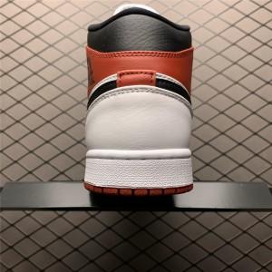 Men's Air Jordan 1 Mid White/Red-Black