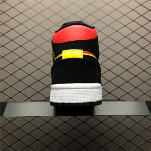 Men's/Women's Air Jordan 1 Mid Hot Punch BQ6472-006