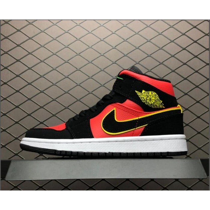Men's/Women's Air Jordan 1 Mid Hot Punch BQ6472-006