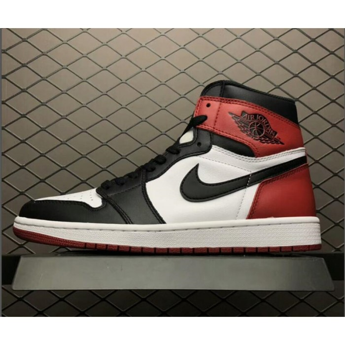 Men's New Air Jordan 1 Retro High OG Black Toe