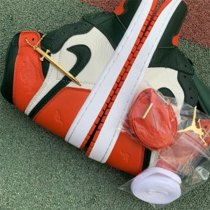 Men's/Women's SoleFly x Air Jordan 1 Miami Art Basel Sail/Fir-Team Orange