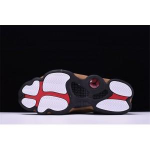 Men's 2018 Air Jordan 13 Olive Black/True Red-Light Olive