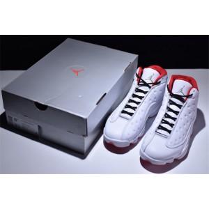 Men's Air Jordan 13 History of Flight White Red-Metallic Silver
