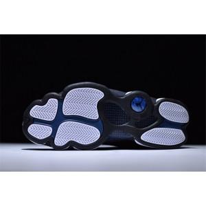 Men's Air Jordan 13 Low Retro Navy Brave Blue/Metallic Silver-Black
