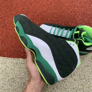 Men's Air Jordan 13 Oregon Ducks PE Lucky Green