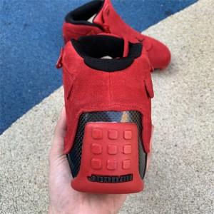 Men's Air Jordan 18 Retro Red Suede Gym Red/Black