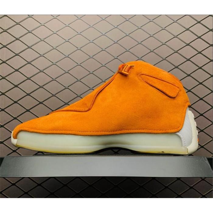 Men's Air Jordan 18 Orange Suede Campfire Orange-Sail