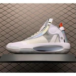 Men's Air Jordan 34 PF Unite White Metallic Silver