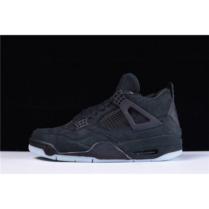 Men's New KAWS x Air Jordan 4 Retro Black Sale