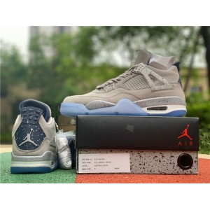 Men's Air Jordan 4 Georgetown Hoyas Light Grey On Sale