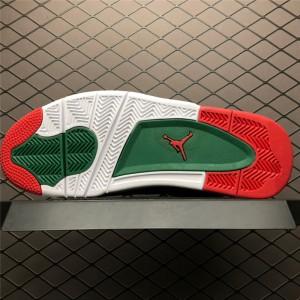 Men's Air Jordan 4 NRG White Gorge Green-Varsity Red