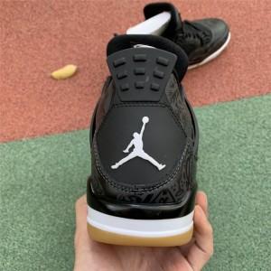 Men's New Air Jordan 4 Retro SE Laser Black Gum