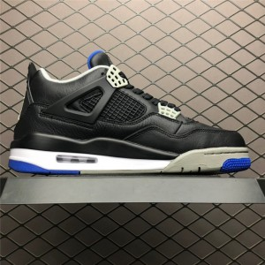 Men's Air Jordan 4 Retro Motorsports Alternate Black Game Royal