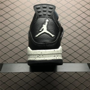 Men's Air Jordan 4 Retro LS Oreo Black Tech Grey