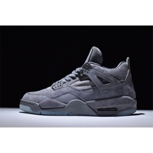 Men's New Release Kaws x Air Jordan 4 Retro Cool Grey White