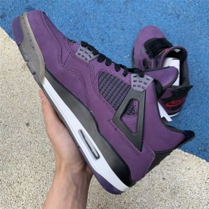 Men's Travis Scott x Air Jordan 4 Purple Suede