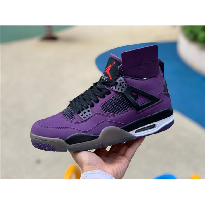 Men's Travis Scott x Air Jordan 4 Purple Suede