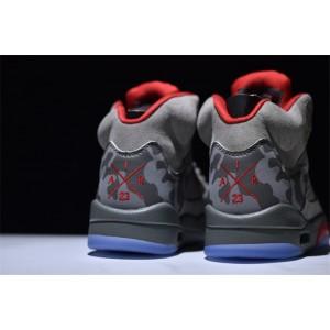 Men's Air Jordan 5 Retro Camo Dark Stucco Fire Red