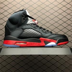 Men's Air Jordan 5 Retro Bred Black University Red
