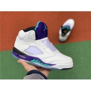 Men's Air Jordan 5 Retro NRG Fresh Prince White Grape Ice-Black
