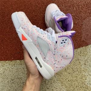 Women's Air Jordan 5 Easter Girls Shoes