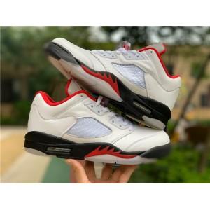 Men's New Air Jordan 5 Low Golf Fire Red Shoes