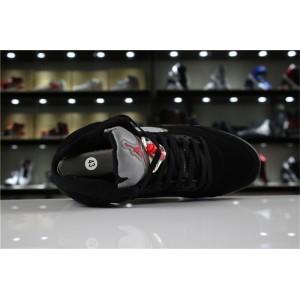 Men's/Women's Air Jordan 5 Retro OG Black Fire Red-Metallic Silver-White