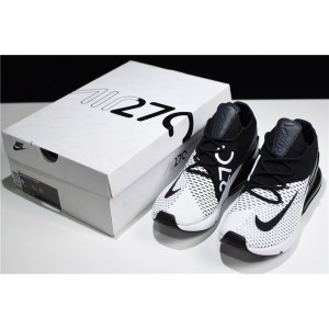Men's/Women's Nike Air Max 270 Flyknit White Black-Anthracite Online