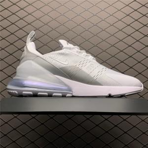 Men's/Women's Nike Air Max 270 White Metallic Silver BQ9240-002