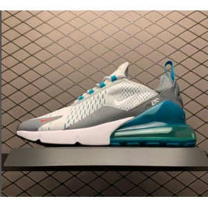 Men's/Women's Nike Air Max 270 Trainers Pure Platinum White-Cool Grey