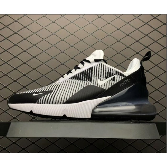 Men's Nike Air Max 270 Flyknit Black and White